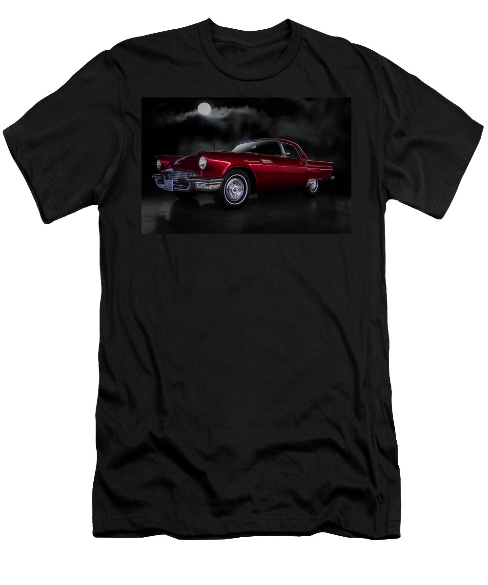 Classic Men's T-Shirt (Athletic Fit) featuring the digital art '57 T-bird by Douglas Pittman