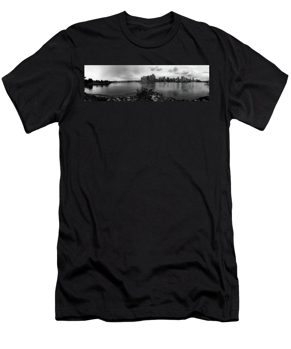 Vancouver Men's T-Shirt (Athletic Fit) featuring the photograph A View Of Vancouver by Pixabay
