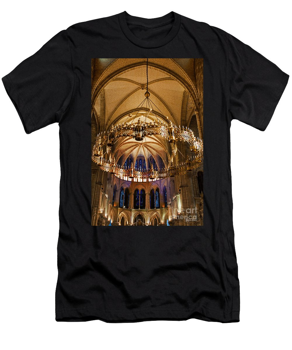 Abbey Of Saint-remi Reims Men's T-Shirt (Athletic Fit) featuring the photograph Abbey Of Saint - Remi Reims by Yefim Bam
