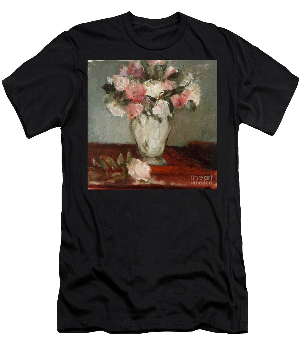 Reproduction Of Manet Floral In Oil Paint. Men's T-Shirt (Athletic Fit) featuring the painting After Manet by Kathleen Hoekstra