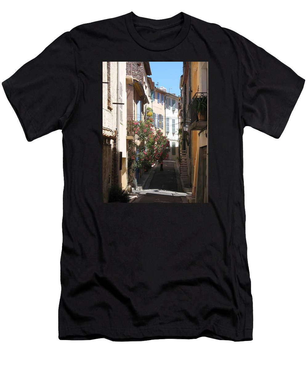 Alley Men's T-Shirt (Athletic Fit) featuring the photograph Alley - Provence by Christiane Schulze Art And Photography