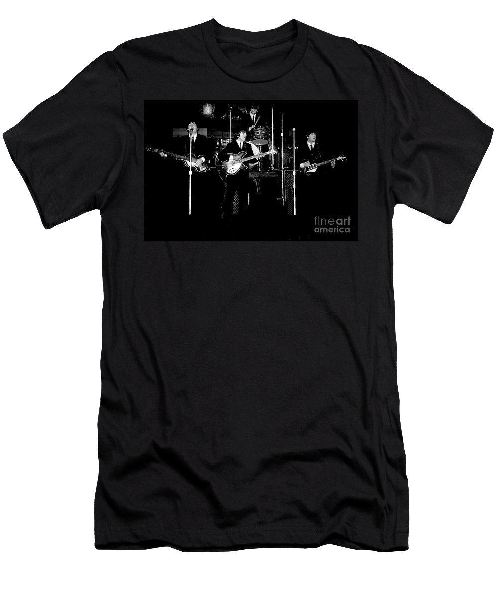 Beatles T-Shirt featuring the photograph Beatles In Concert 1964 by Larry Mulvehill
