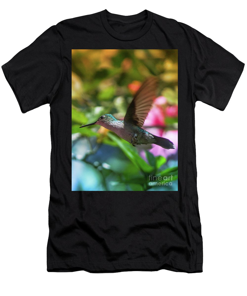 Flowers Men's T-Shirt (Athletic Fit) featuring the photograph Beija-flor by Ana Francisconi