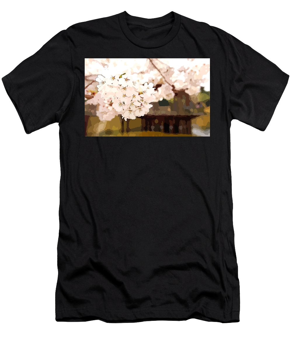 Blossom Men's T-Shirt (Athletic Fit) featuring the digital art Blossom by Lora Battle