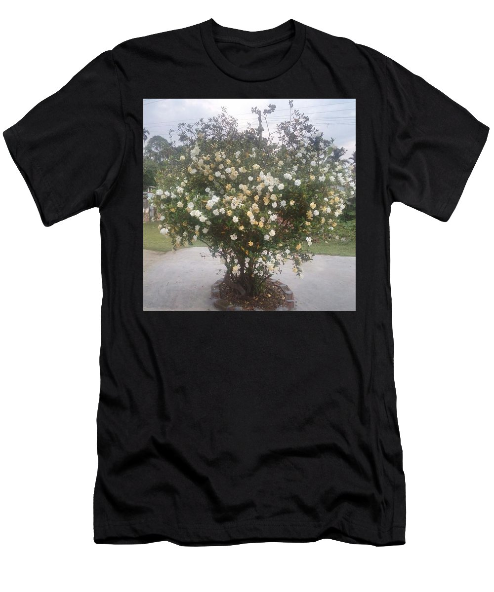 Tatar Assam Flower Men's T-Shirt (Athletic Fit) featuring the photograph Bordoloi by Jayanta