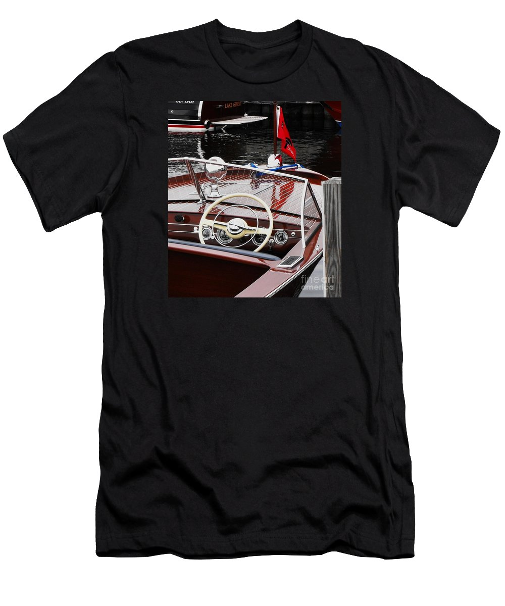 Chris Craft Men's T-Shirt (Athletic Fit) featuring the photograph Chris Craft Utility by Neil Zimmerman