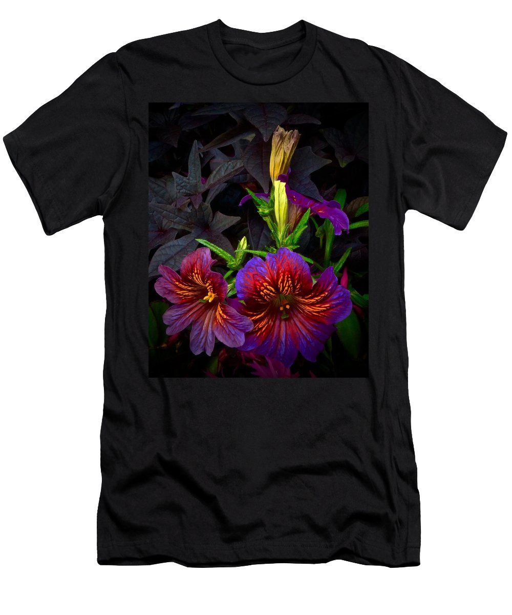Chicago Botanic Garden Men's T-Shirt (Athletic Fit) featuring the photograph 2 Coming And 2 Here by Tim G Ross