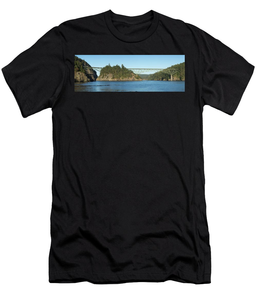 Deception Men's T-Shirt (Athletic Fit) featuring the photograph Deception Pass by Bob Stevens