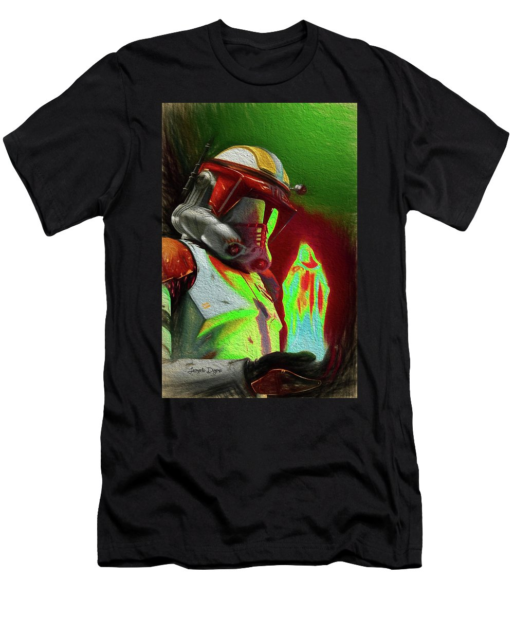 Execute Order 66 Men's T-Shirt (Athletic Fit) featuring the painting Execute Order 66 - Free Style by Leonardo Digenio