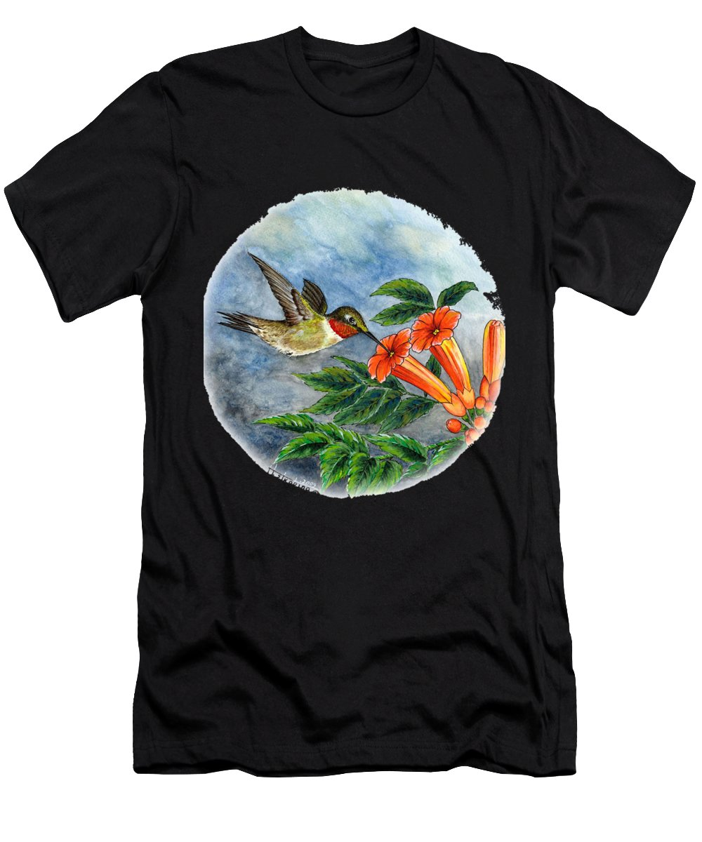 Men's T-Shirt (Athletic Fit) featuring the painting Feeding Time by Herb Strobino