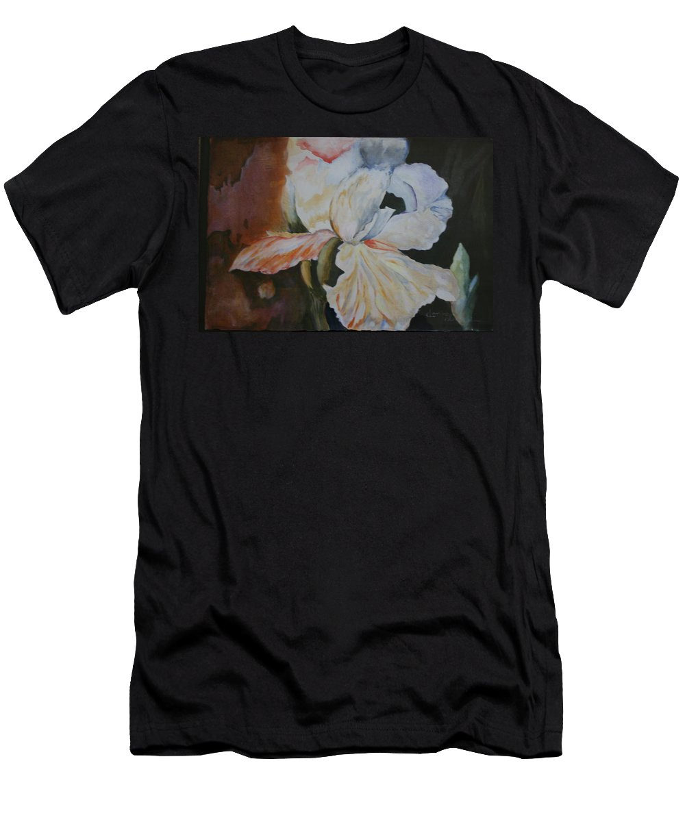 Or Irisacrylic Paintings Men's T-Shirt (Athletic Fit) featuring the painting Fleur-de-lis by Donna Steward