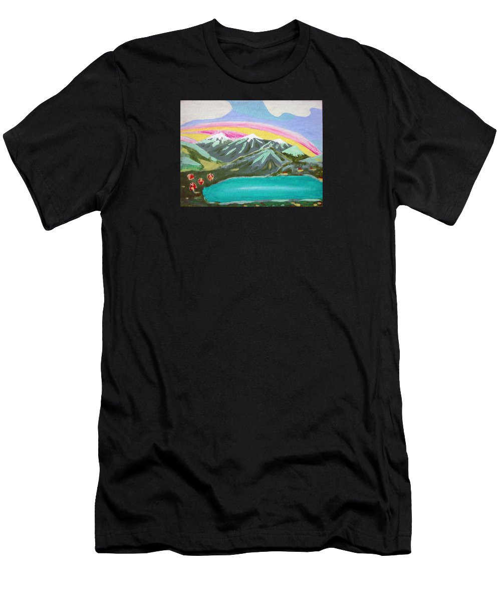 Impressionist Painting Men's T-Shirt (Athletic Fit) featuring the painting From The Mountains To The Sea by J R Seymour