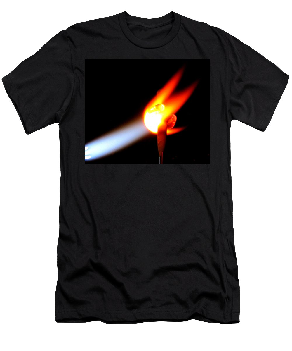 Fire Men's T-Shirt (Athletic Fit) featuring the photograph Glass Bead Making by Sarah Houser