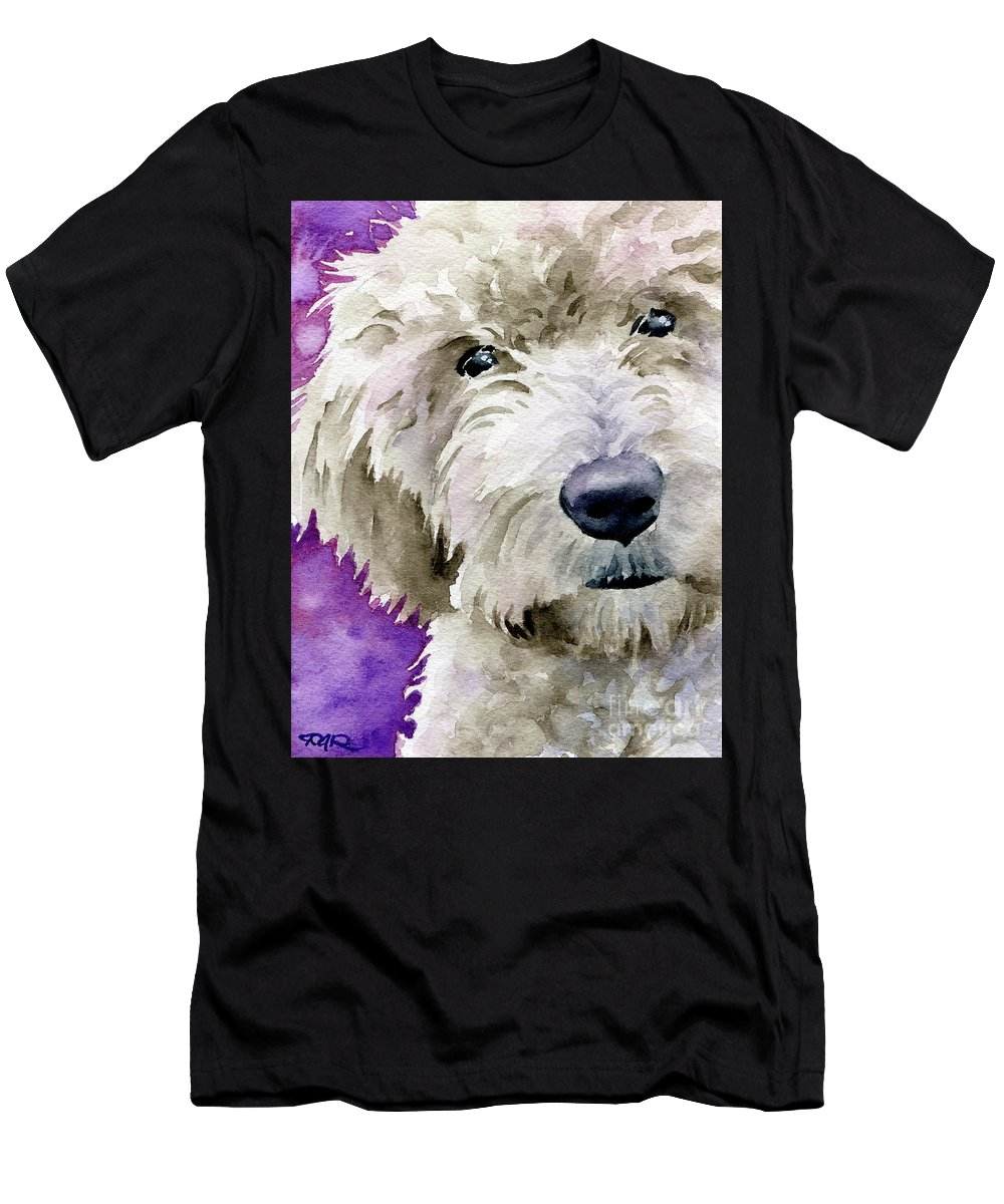 Goldendoodle Men's T-Shirt (Athletic Fit) featuring the painting Goldendoodle by David Rogers