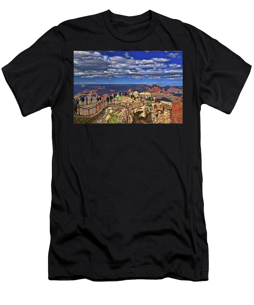 Grand Canyon Men's T-Shirt (Athletic Fit) featuring the photograph Grand Canyon # 4 - Mather Point Overlook by Allen Beatty