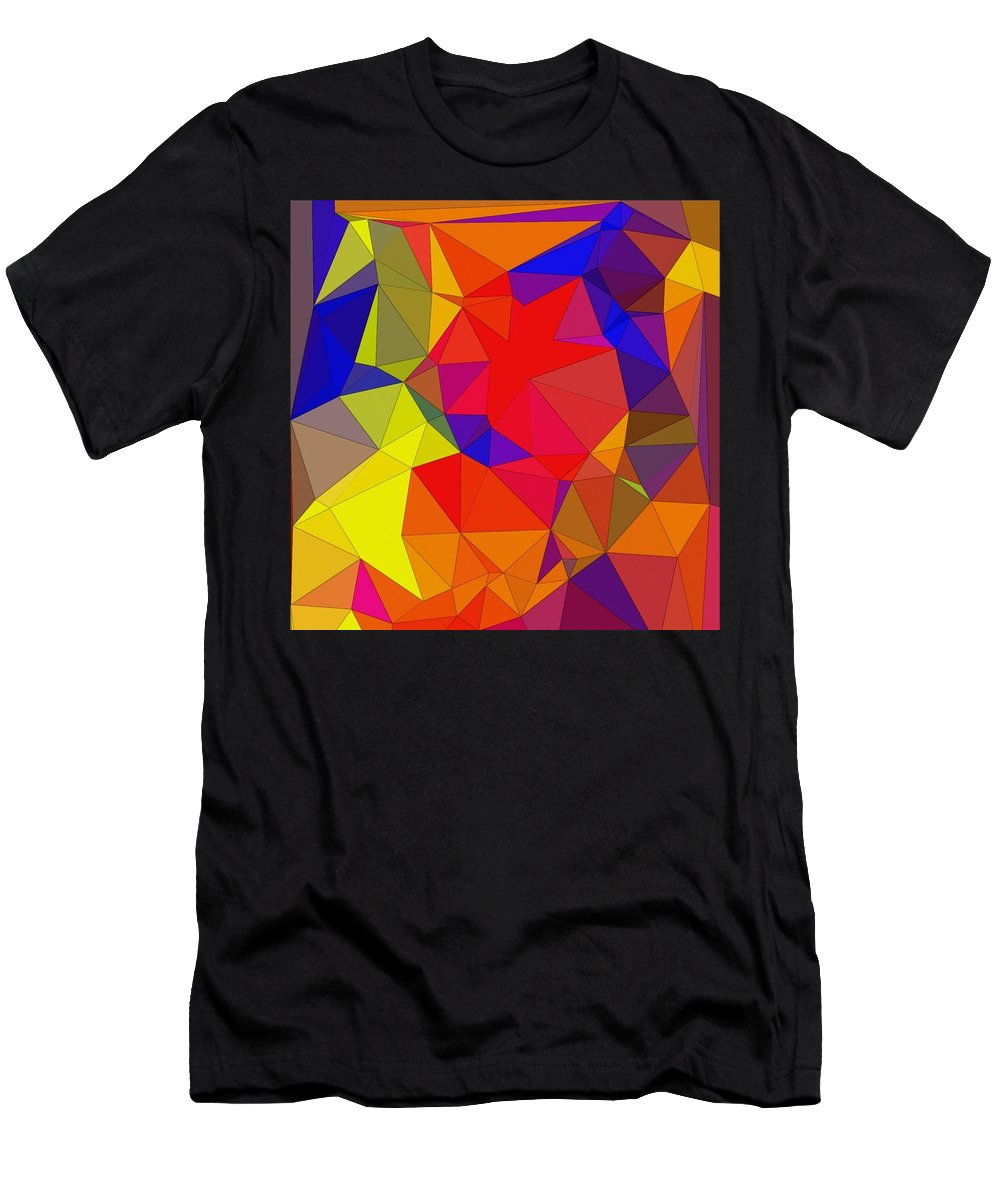 Digital Art Men's T-Shirt (Athletic Fit) featuring the digital art Happiness 2 by Juvenal Garza