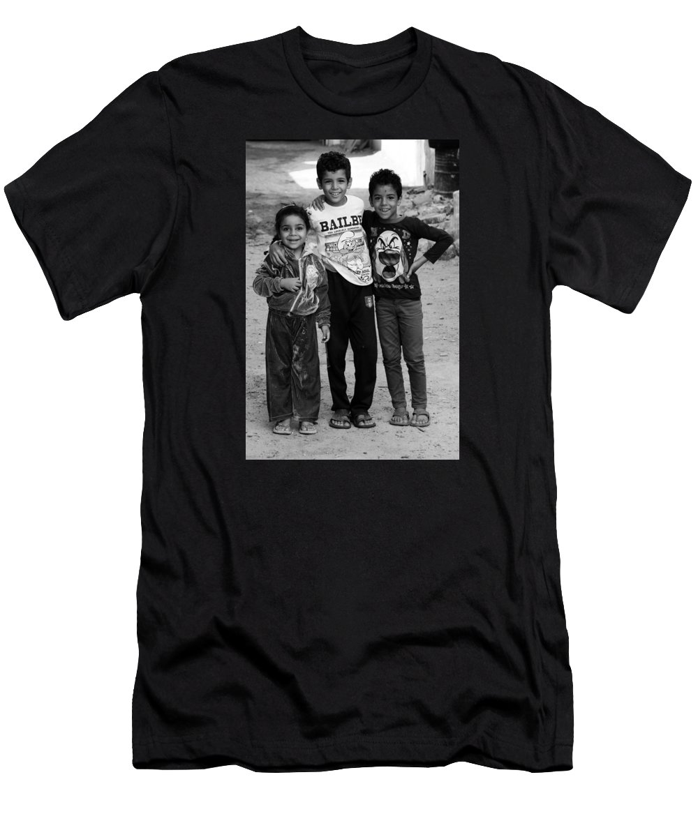 Hurghada Men's T-Shirt (Athletic Fit) featuring the photograph Here We Are by Jez C Self