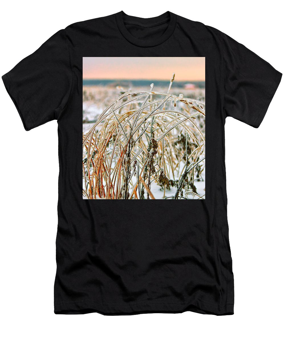 Algid Men's T-Shirt (Athletic Fit) featuring the photograph Ice On Branches by Sergey Nosov