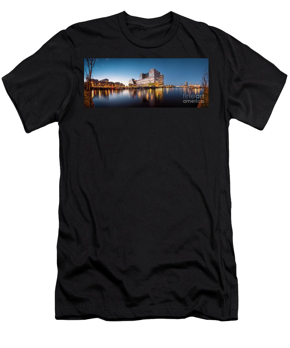 Urban Landscapes Men's T-Shirt (Athletic Fit) featuring the photograph Ijdok by Michael Harris