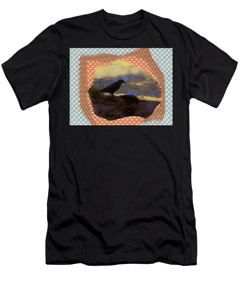 Photography Men's T-Shirt (Athletic Fit) featuring the photograph In The Shadows by Kathie Chicoine