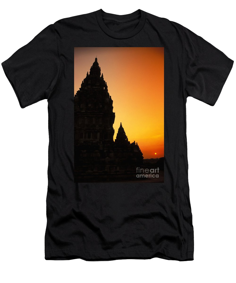 Ancient Men's T-Shirt (Athletic Fit) featuring the photograph Java, Prambanan by Gloria & Richard Maschmeyer - Printscapes