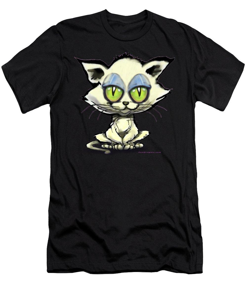 Kitten Men's T-Shirt (Athletic Fit) featuring the digital art Kitten by Kevin Middleton