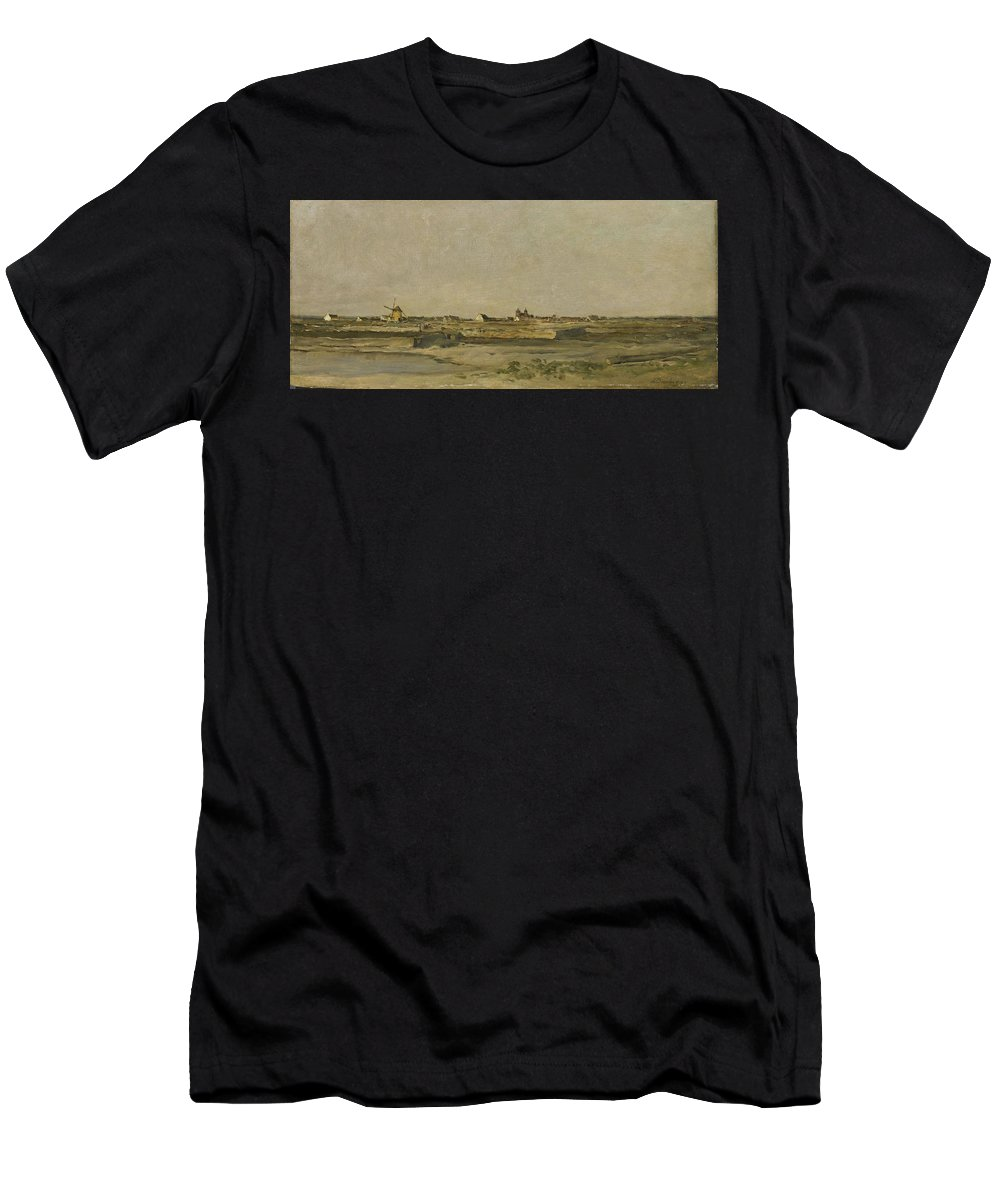 Landscape Men's T-Shirt (Athletic Fit) featuring the painting Landscape by Charles