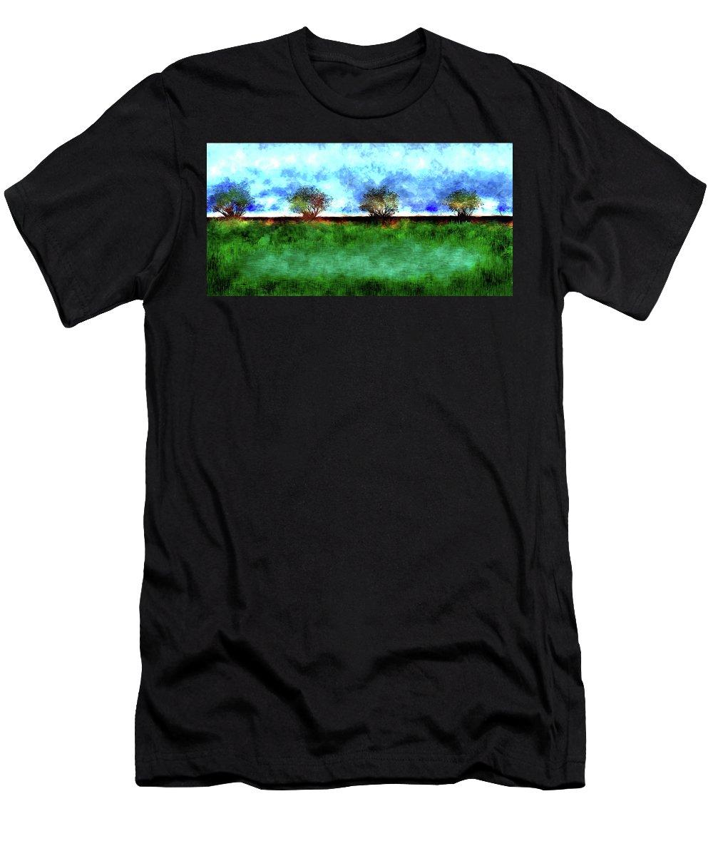 Men's T-Shirt (Athletic Fit) featuring the digital art Landscape by Vijay Prakash