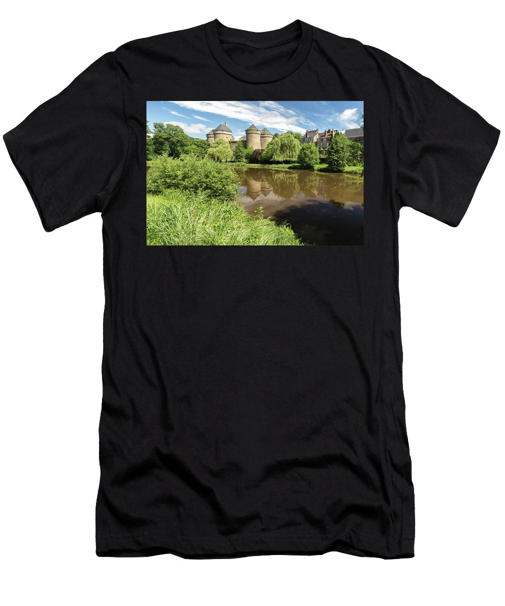 France Men's T-Shirt (Athletic Fit) featuring the photograph Lassay Les Chateaux by Rob Lester