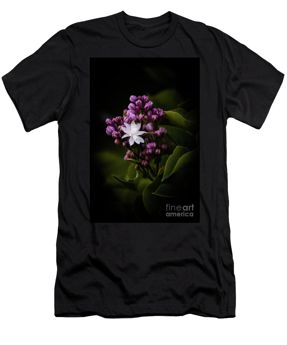 Lilacs Men's T-Shirt (Athletic Fit) featuring the photograph Lilacs by Ken Marsh