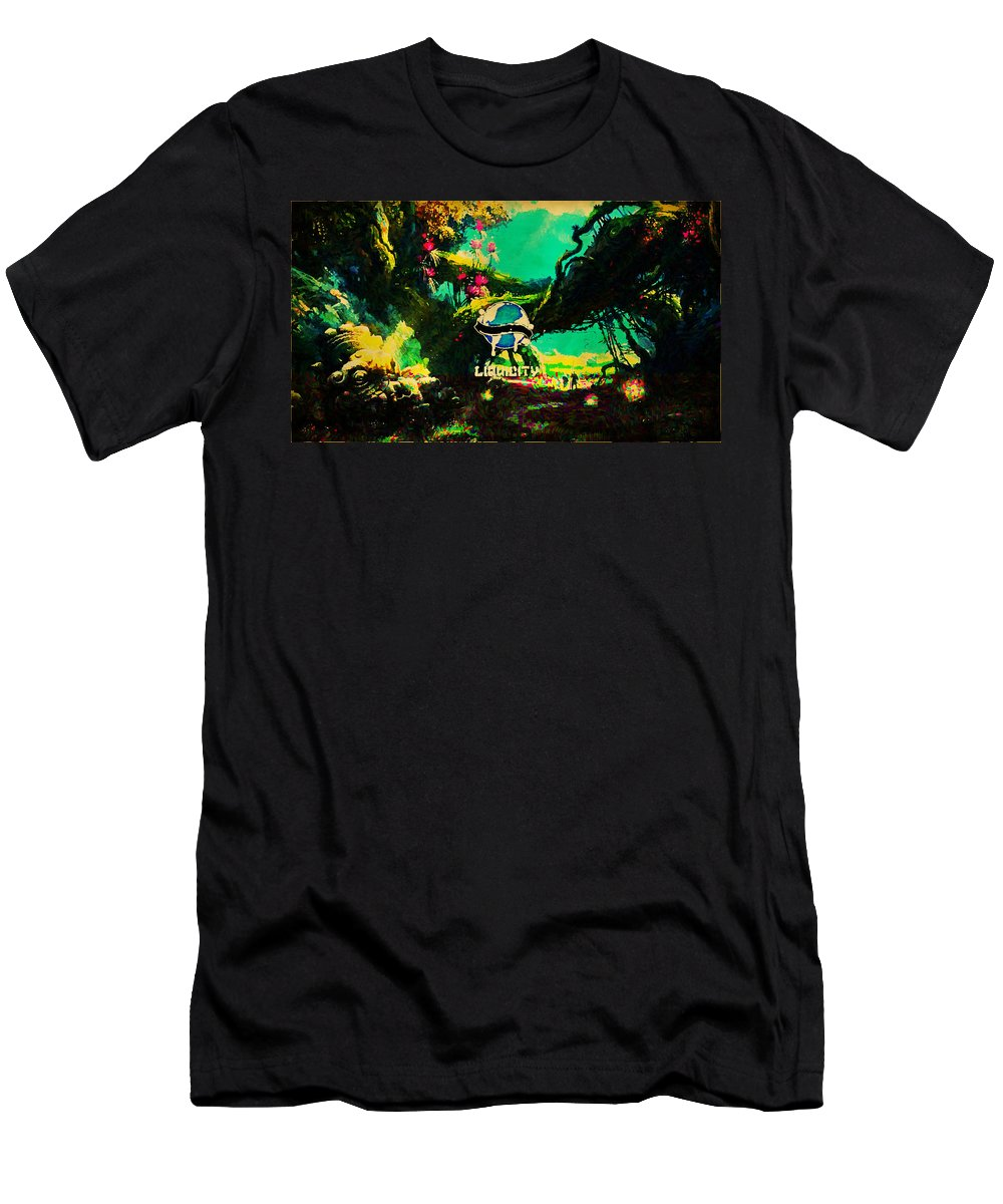 Liquicity Men's T-Shirt (Athletic Fit) featuring the digital art Liquicity by Lora Battle