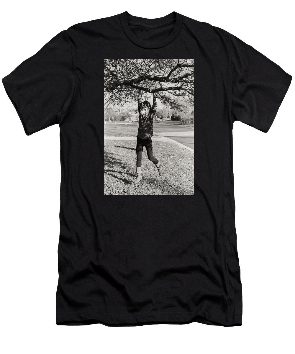 Zebra Men's T-Shirt (Athletic Fit) featuring the photograph Lonely Zebra by Misael Nevarez