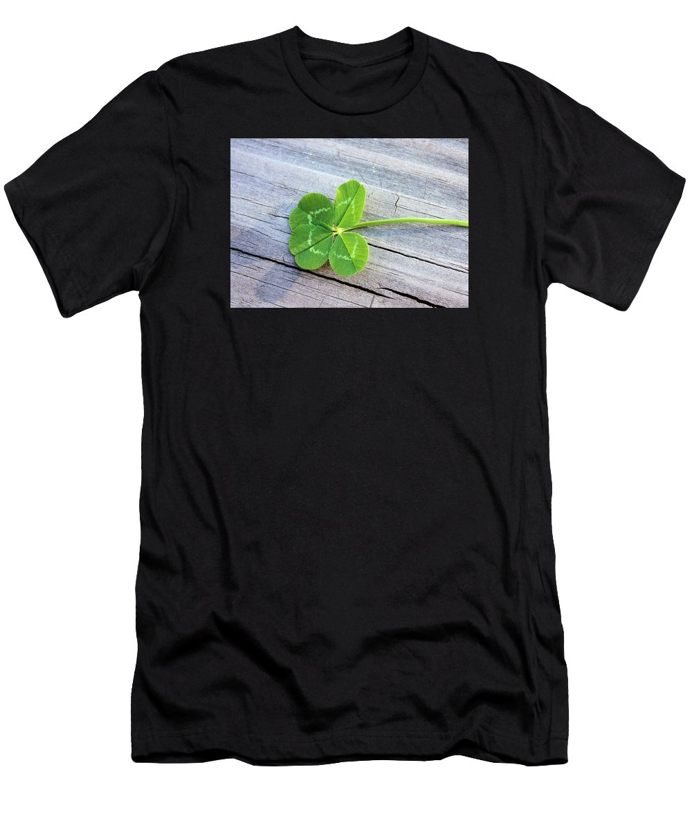 Clover Men's T-Shirt (Athletic Fit) featuring the photograph Lucky by Kristin Elmquist