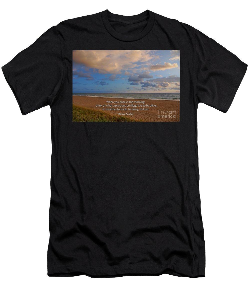 Marcus Aurelius Men's T-Shirt (Athletic Fit) featuring the photograph 2- Marcus Aurelius by Joseph Keane