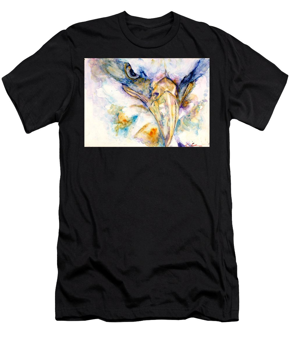 Eagle Men's T-Shirt (Athletic Fit) featuring the painting Marie's Eagle by Elisha Dasenbrock