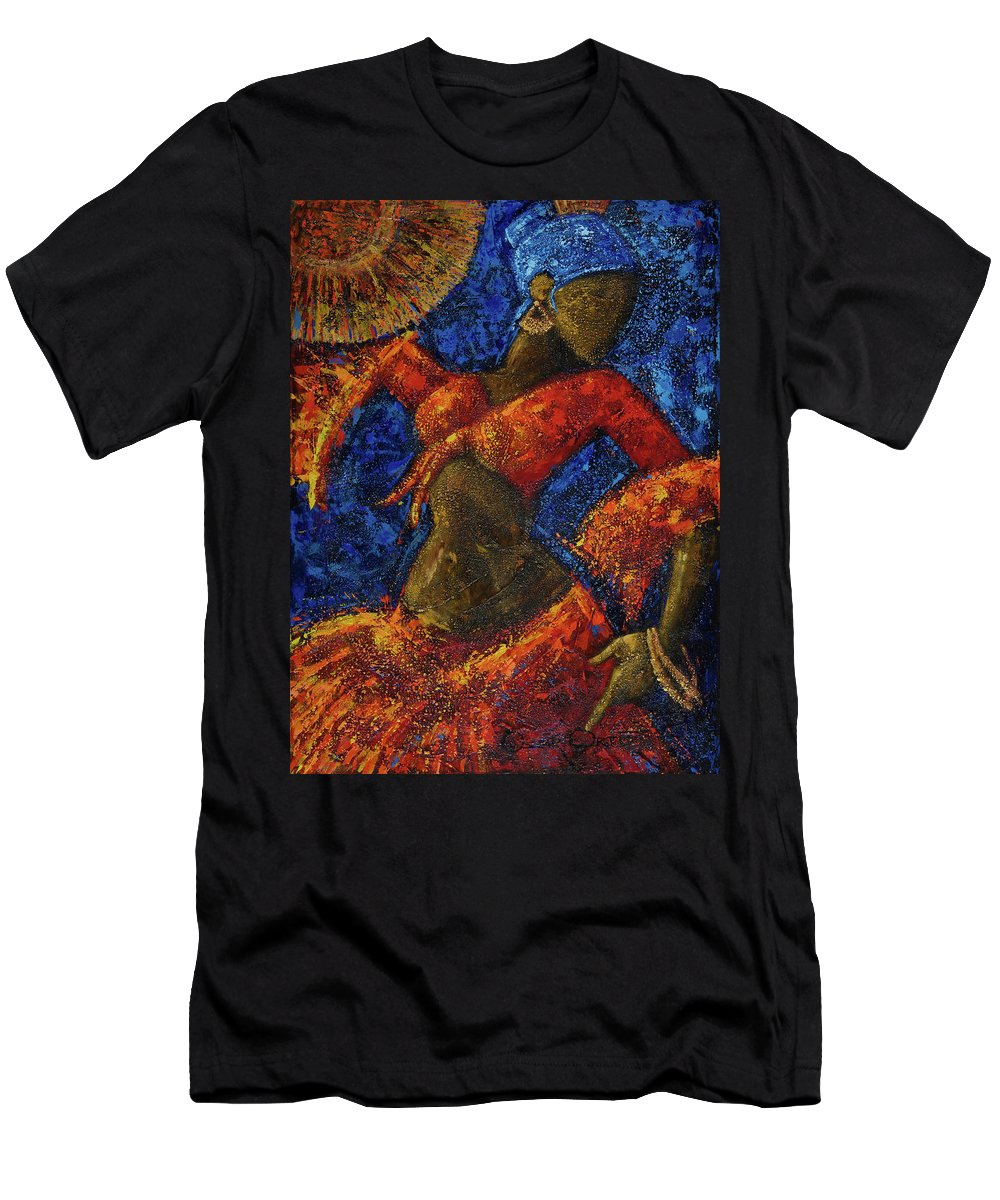 Dancer T-Shirt featuring the painting Passion by Oscar Ortiz