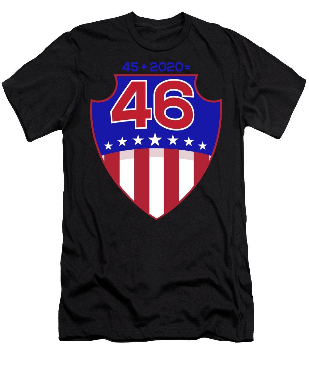 Donald-trump Men's T-Shirt (Athletic Fit) featuring the digital art Reelect Trump For President Keep America Great Dark by Nikita Goel