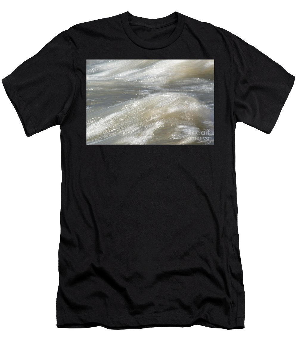 Water Men's T-Shirt (Athletic Fit) featuring the photograph Rushing River by Michelle Himes