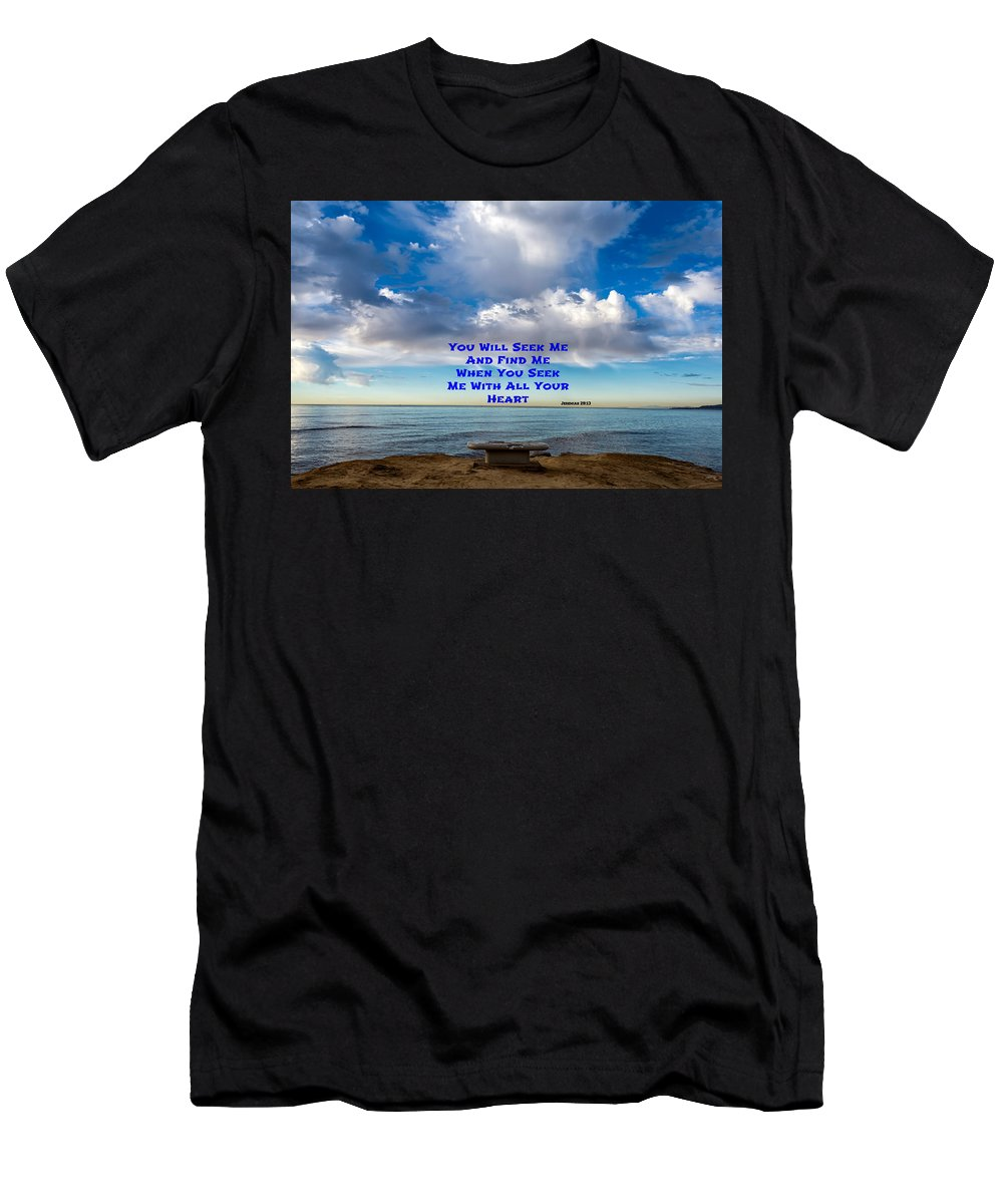 Jeremiah 29:13 Men's T-Shirt (Athletic Fit) featuring the photograph Seek And Find by Joseph S Giacalone