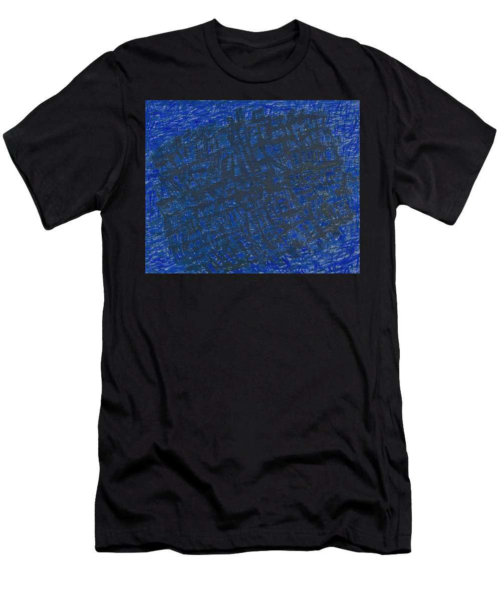 Ship Men's T-Shirt (Athletic Fit) featuring the painting Ship by Robert Nizamov