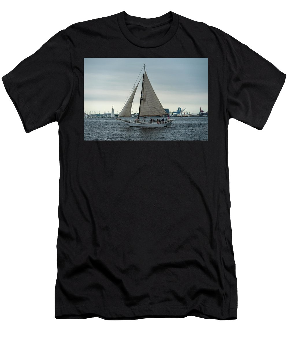 2017 Men's T-Shirt (Athletic Fit) featuring the photograph Skipjack by Jim Archer