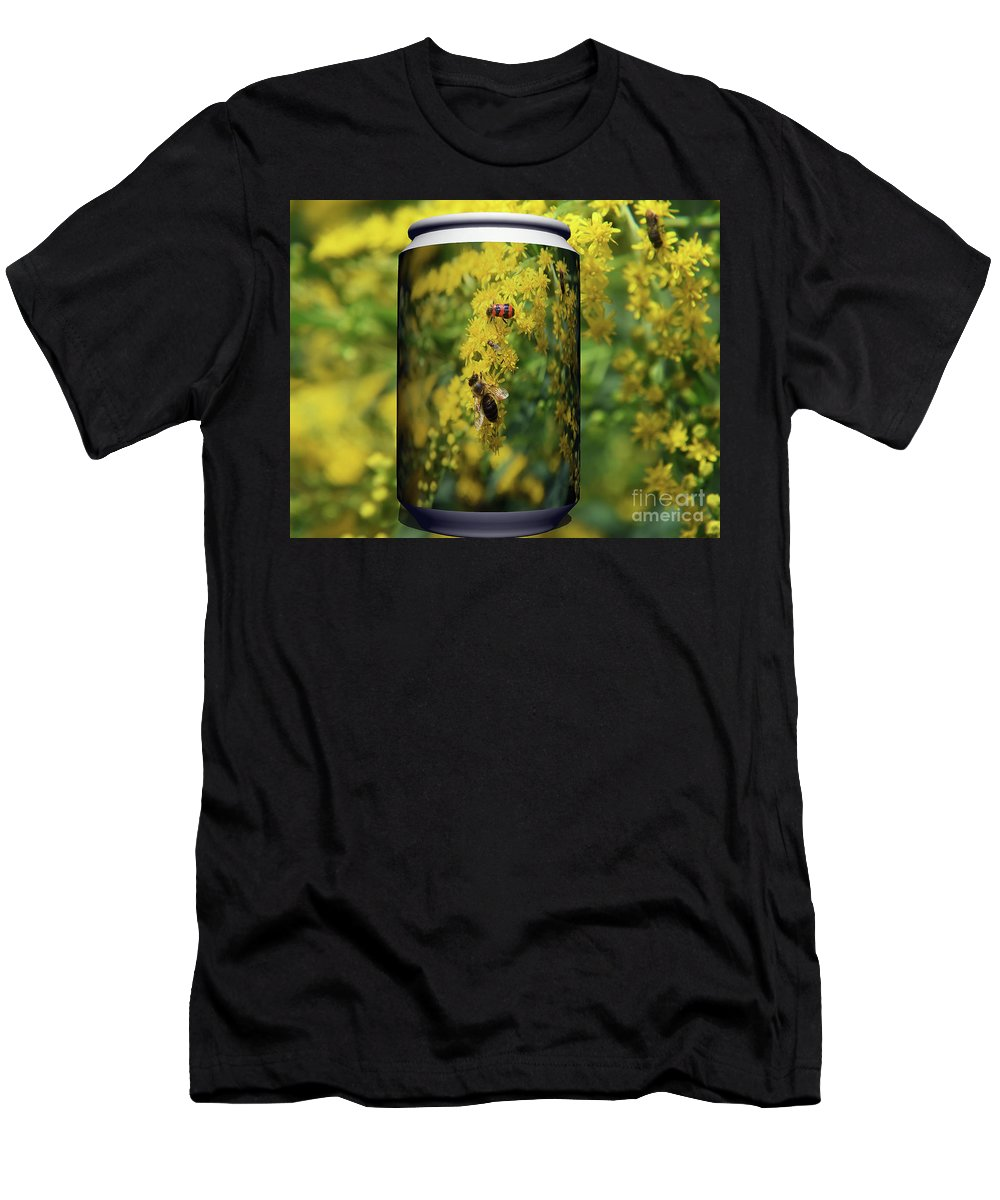 Flowers Men's T-Shirt (Athletic Fit) featuring the photograph Small Insect by Elvira Ladocki