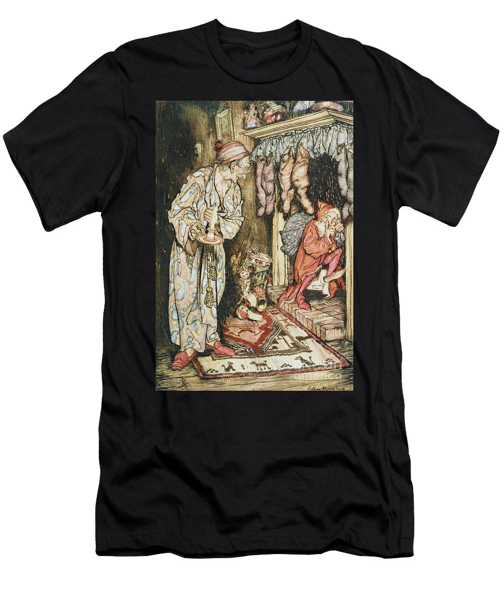 Xmas Men's T-Shirt (Athletic Fit) featuring the drawing The Night Before Christmas by Arthur Rackham