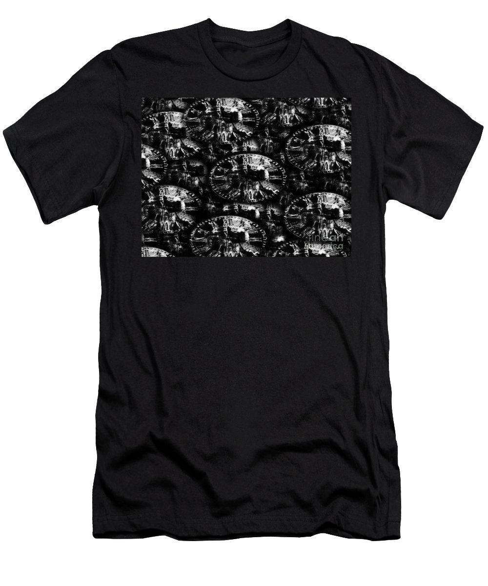 Time Men's T-Shirt (Athletic Fit) featuring the painting Time by David Lee Thompson