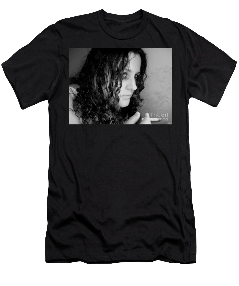 Ciggerette Men's T-Shirt (Athletic Fit) featuring the photograph Untitiled by Meghann Brunney