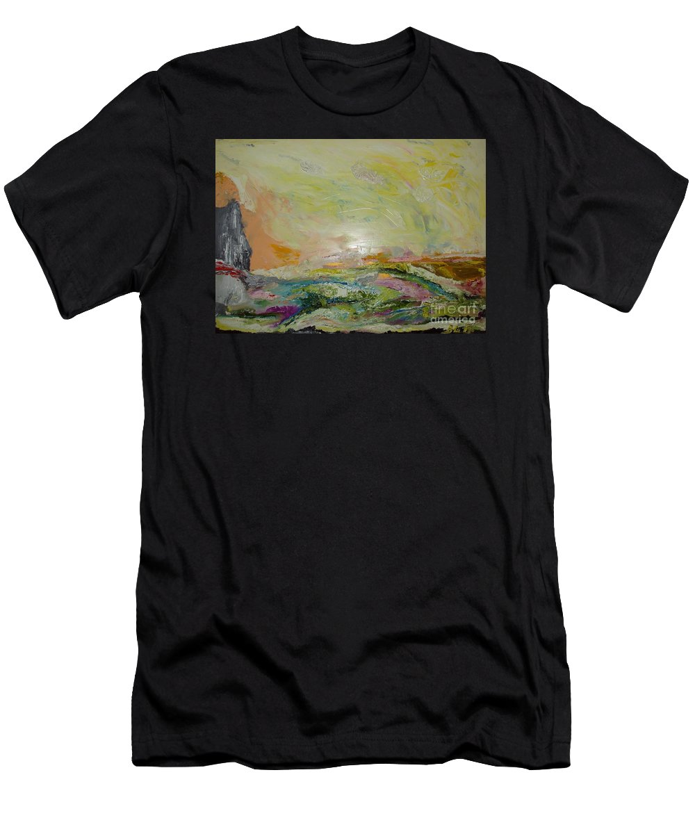 Sky Men's T-Shirt (Athletic Fit) featuring the painting Untitled by Bennu Bennu