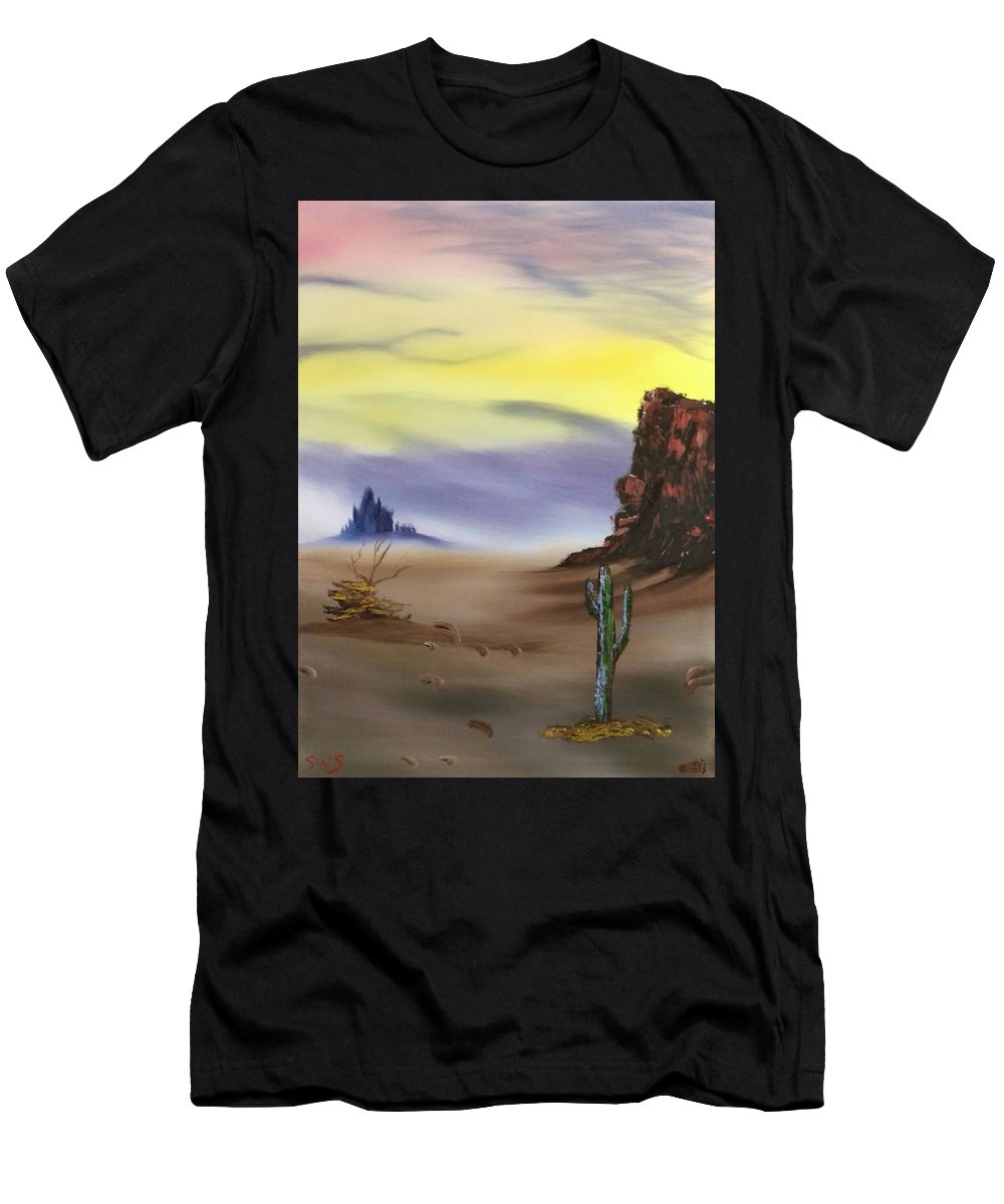 Men's T-Shirt (Athletic Fit) featuring the painting Untitled by Shane Stephens