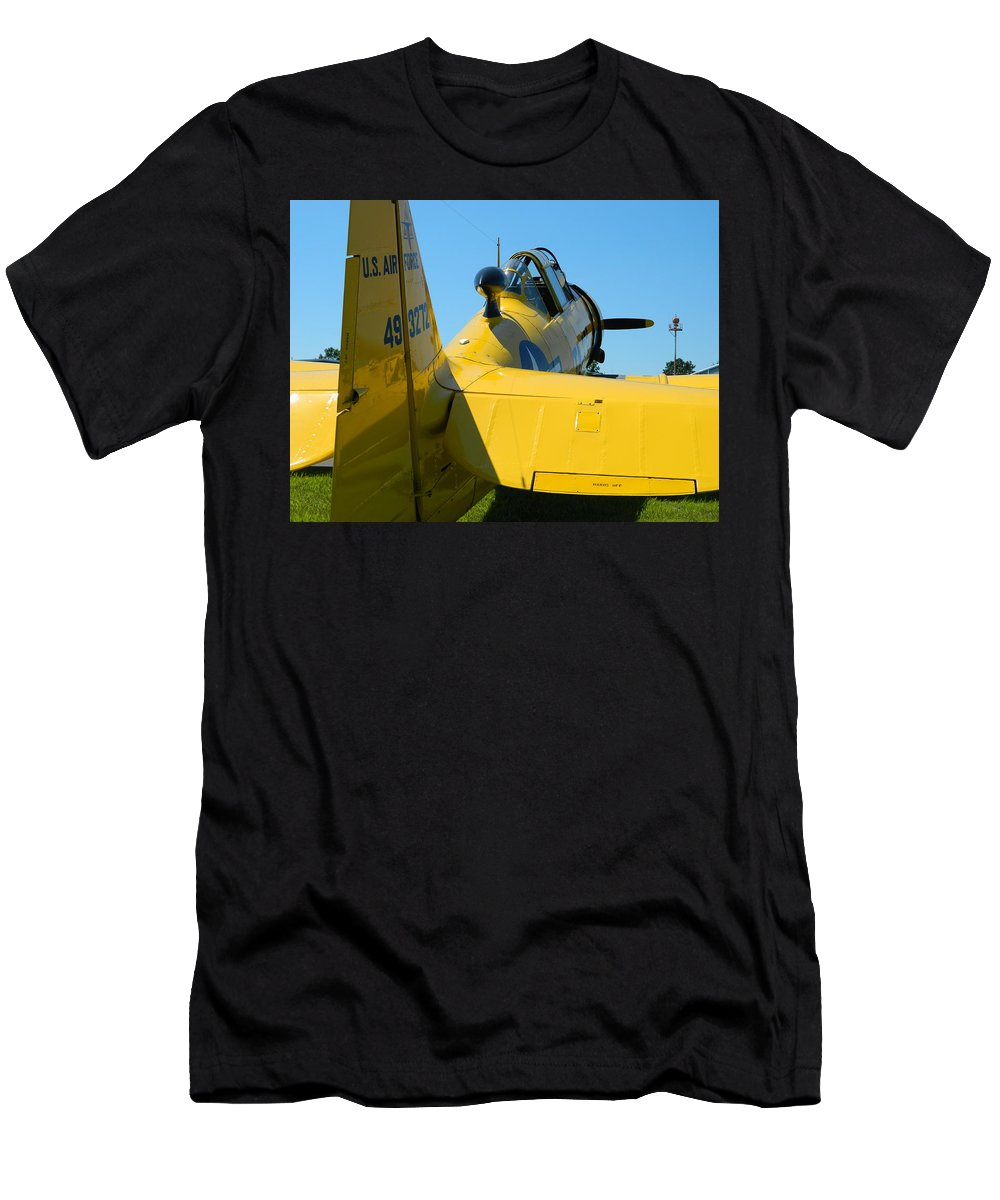 Yellow Men's T-Shirt (Athletic Fit) featuring the photograph Vehicles Series by Arlane Crump