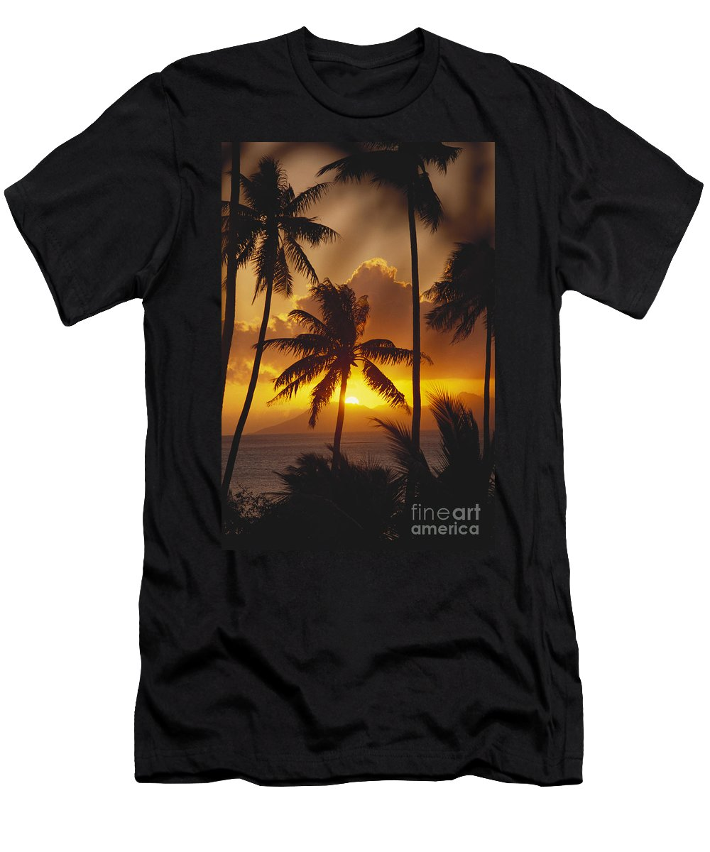 Beautiful Men's T-Shirt (Athletic Fit) featuring the photograph View Of Tahiti by Joe Carini - Printscapes