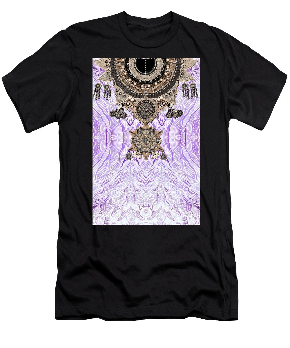 Wave Men's T-Shirt (Athletic Fit) featuring the digital art Wave And Jewels by Sandrine Kespi